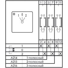 Переключатель CA10 A214-600 FT3