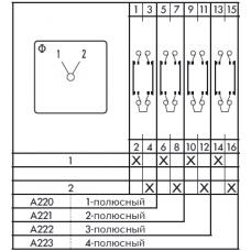 Переключатель C125 A222-600 E