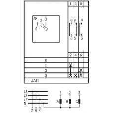 Переключатель C125 A311-600 E