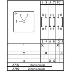 Переключатель C125 A750-600 E