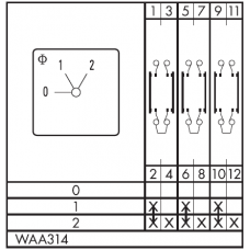 Переключатель C125-WAA314-600 E