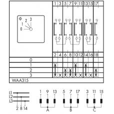 Переключатель C125-WAA315-600 E
