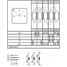 Переключатель C125-WAA413-600 E