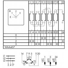 Переключатель C125-WAA457-600 E