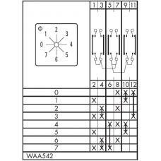 Переключатель CA10-WAA542-600 E