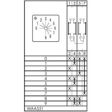 Переключатель CA10-WAA551-600 E
