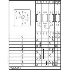Переключатель CA10-WAA552-600 E